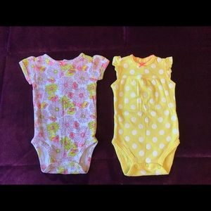 Sunny set of Carter's Onesies, 3 months